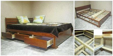 Шесть выдвижных ящиков для кроватей 120х200 – 180х200 см