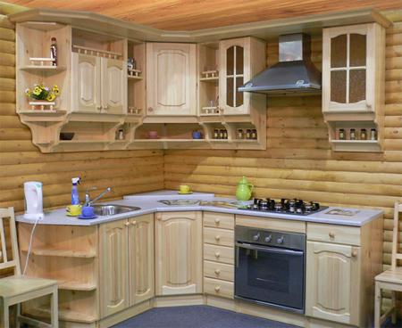 Как сделать кухню из сосны