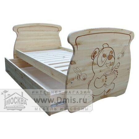 Кровать «Машенька» с ящиком - 80х150 см